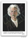 Mark Twain poster, portrait by Frank Szasz
