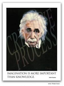 Albert Einstein portrait by Frank Szasz