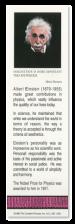 Albert Einstein bookmark