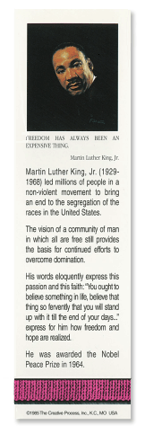 Martin Luther King, Jr. bookmark