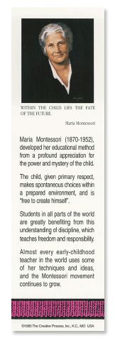 Maria Montessori bookmark